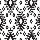 Tribal Aztec-White & Black