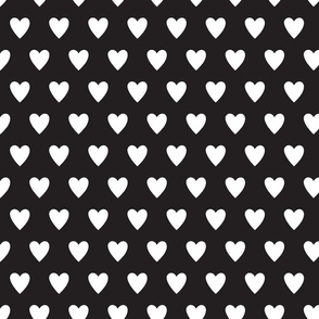 hearts-black & White
