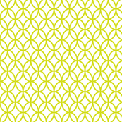 Geometric Circles - Yellow Green