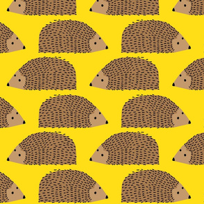 Big Hedgehogs on Yellow