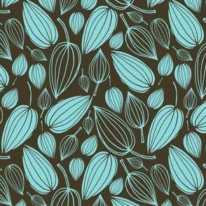 Botanical Beauties - Charcoal & Seafoam 1