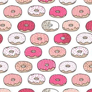 Donuts - Bright Pink, Pale Pink (Tiny Version) by Andrea Lauren