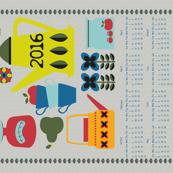 Retro Kitchen 2016 Calendar