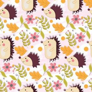 Hedgehog floral parade