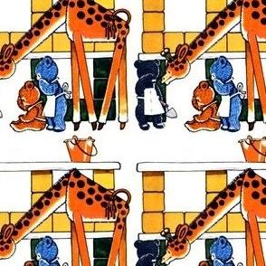 bricks pails buckets teddy bears toys giraffes trowels bricklayer vintage retro kitsch whimsical