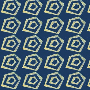Block Print pentagon 2