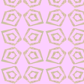 Block Print ln pink and gold