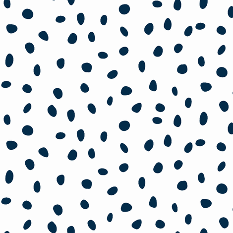 dalmation dots - navy on white