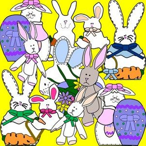 Bunny and Easter Eggs Fabric 4