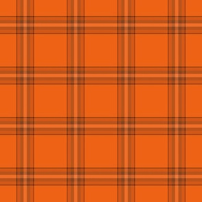 Pumpkin plaid