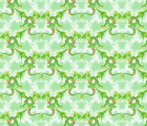 spring green flying dragons