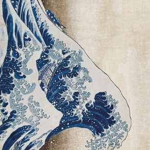 Hokusai Great Wave Seamless Repeat on Edge