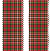 Christmas tartan ribbon stripe
