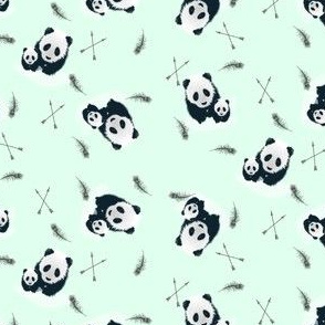 Panda__Arrow__Feathers_Fabric