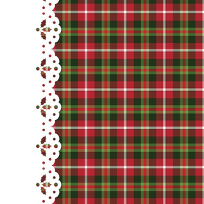 Christmas tartan border - bigger