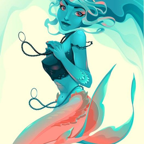 Portrait of a mermaid.
