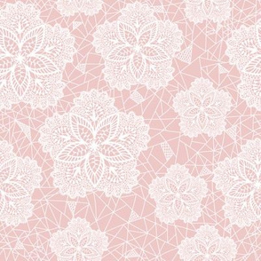 Pink Flower Lace