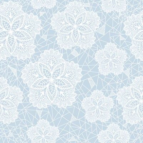 Blue Flower Lace