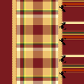 Striped Rooster border print