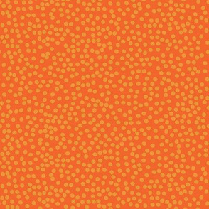 Random Polkadot - Pumpkin and Burnt Orange