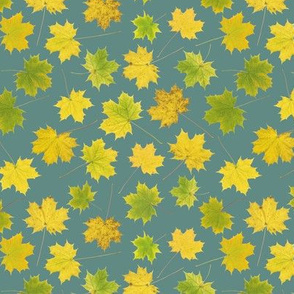 small maple leaves on slate blue