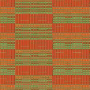 Green red bamboo mat