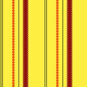 Paris Daisy stripes - Fire coordinates