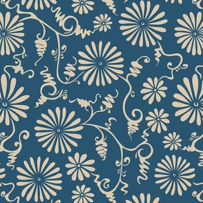 China Floral in Blue