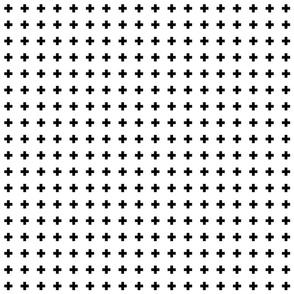 cross + black on white .5in narrow