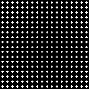 cross + white on black .5in narrow