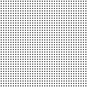 cross + black on white .25in narrow