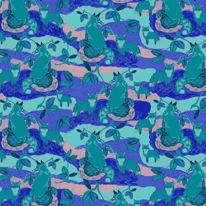 DwellerFoxIndexedRepeat_Dark_Spoonflower