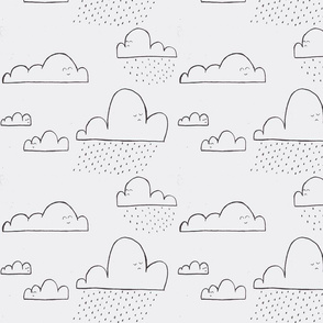 Clouds cute faces - original