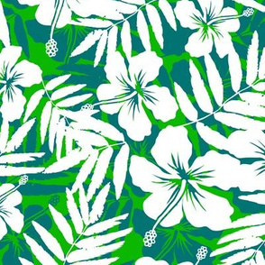 Green tropic flowers