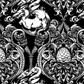 Targaryen Dragon Damask