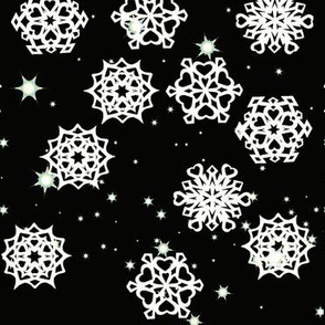 Night Sky Snowflakes