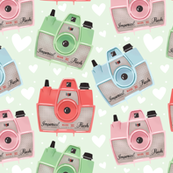 Vintage Cameras - Green - Large