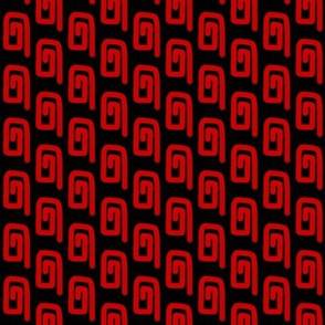 Red Coils on Black