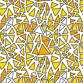 Dynamic Triangles Yellows on White