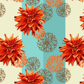 seamless_colorful_pattern_with_geargina_flowers_and_wide_vertical_stripes