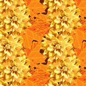 seamless_pattern_of_dahlia_flowers_and_maple_leaves