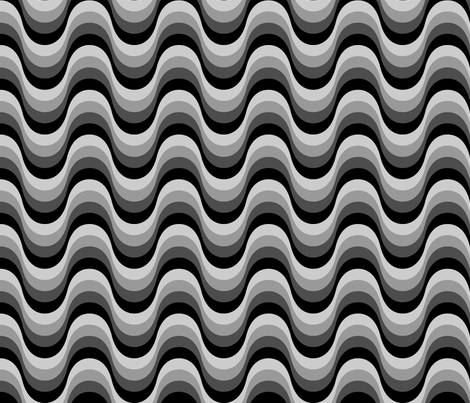 Retro Waves - gray