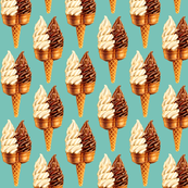 Ice Cream Twin Cone -Teal
