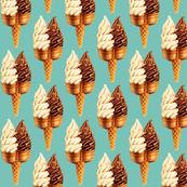 Ice Cream Twin Cone -Teal