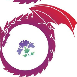 Dragon and Purple Flower