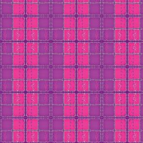 Fuzzy Plaid/ purple/pink