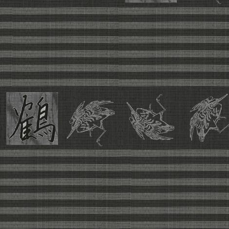 Crane & Kanji - charcoal, grey