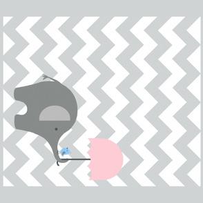 Zekie  quilt / pink