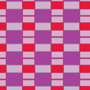 Menny Plaid/ purple & red