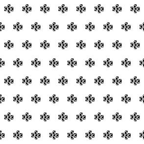 Tri-Plus   Black and White Triangle Cross